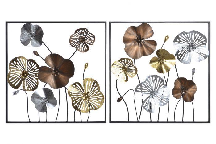 Leaf wall art decor i dettagli intricati fanno risaltare questo pezzo tra le tue altre arti decorative. Decorazioni Per Le Pareti Metallo 60x4x60 Fiori 2