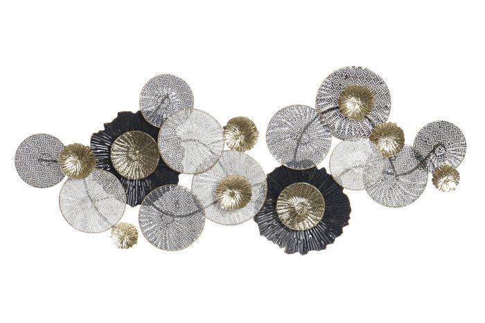 Acquista online le nostre decorazioni in metallo da appendere! Decorazioni Per Le Pareti Metallo 135x7x56 Fiori