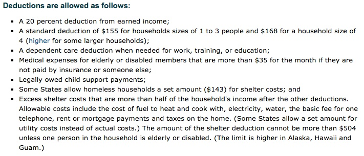 """""""Tennessee food stamps income deductions"""""""