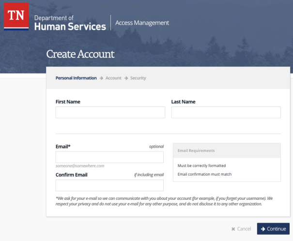 """how to create case connect account"""