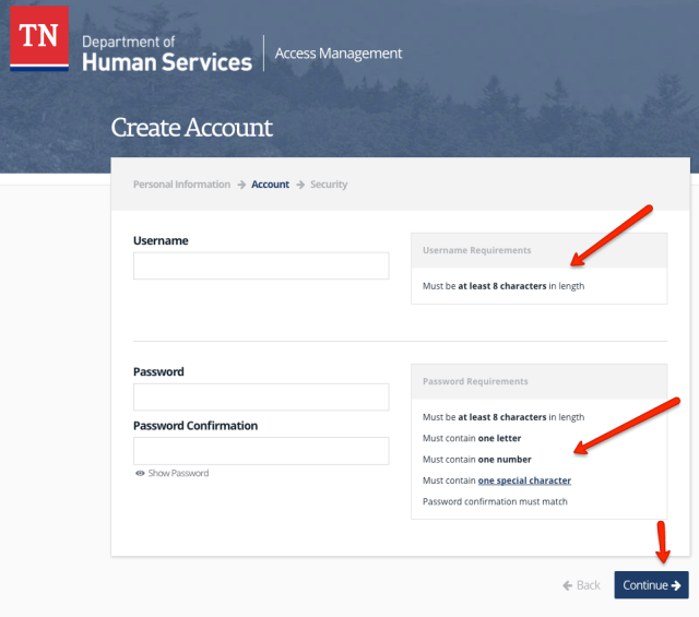 """TN Case connect Account Registration"""