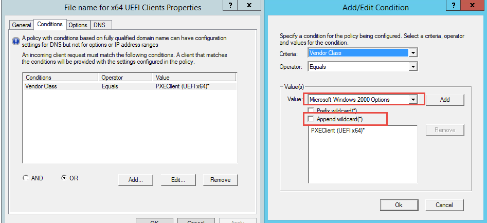 Use DHCP to detect UEFI or Legacy BIOS system and PXE boot to SCCM