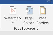 Word Page Color