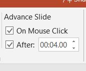 PowerPoint slide show timing