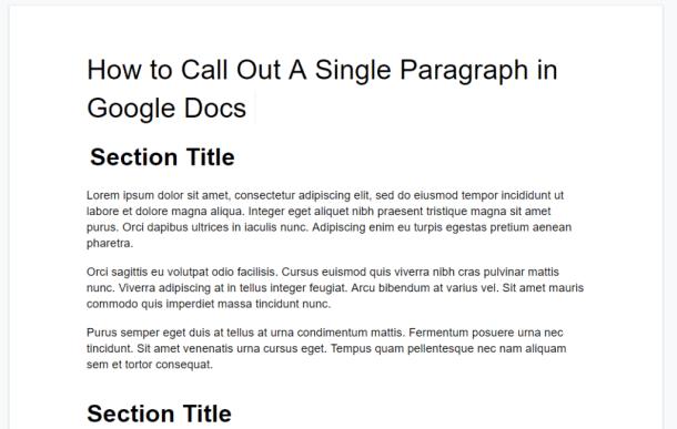 Google Docs custom paragraph formatting