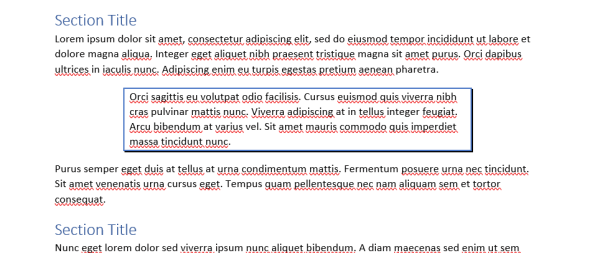 Custom Formatted Paragraph