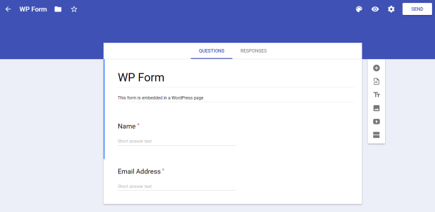 Simple google form