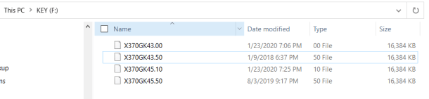 Fatal1ty X370 Gaming K4 Bios files