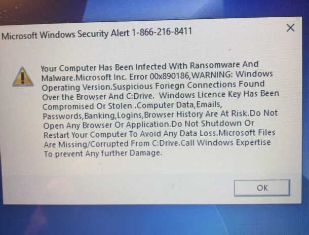 Beware of Tech Support Scam