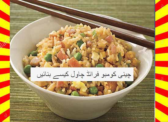How To Make Chinese Combo Fried Rice Urdu and English
