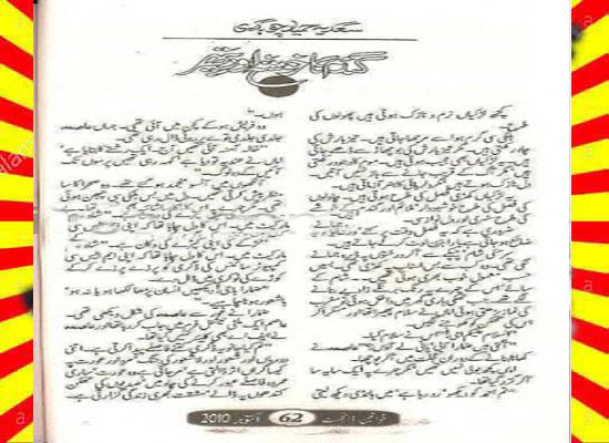 Gandam Ka Khosha Aur Pathar Urdu Novel By Sadia Hameed Chaudhary