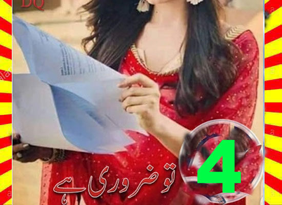 Tu Zaroori Hai Urdu Novel By DQ Episode 4