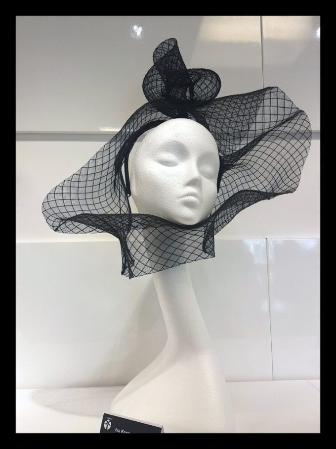 Net designed by Iva Ksenevich at Iva Ksenevich Millinery