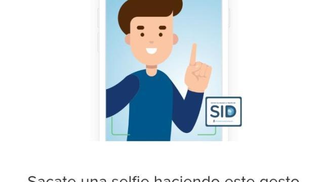 Imagen de la validación de Mercado Libre para cruzar datos con el Registro Nacional de las personas (RENAPER) en el que pide al usuario que cara y mano se vean completas y que levante el dedo indice.