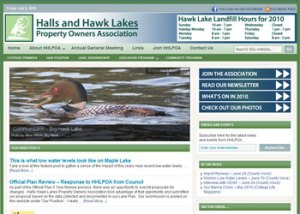 Halls and Hawk Lakes Release new Website