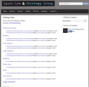 SportLaw.ca | Custom WordPress Coding