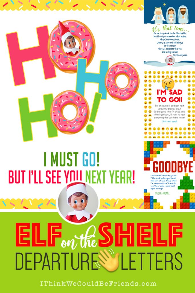Elf On The Shelf Emoji Departure Letter Amp Printable Mask
