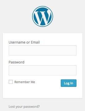 login masuk untuk wordpress