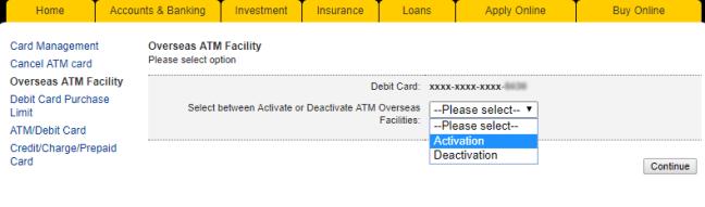 pilihan aktifkan debit kad maybank