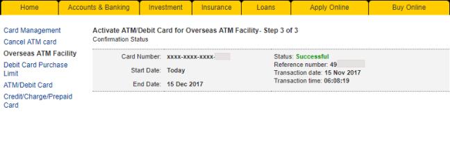 pengaktifan kad maybank untuk transaksi luar negara berjaya