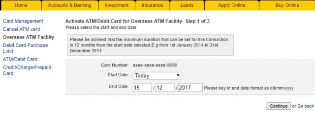 tetapkan had masa kad maybank aktif untuk transaksi luar negara