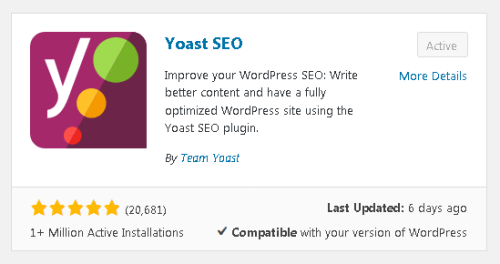 Wordpress Plugin Yoast SEO