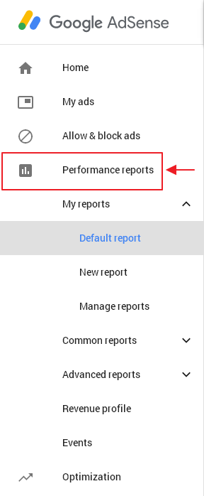 menu performance reports