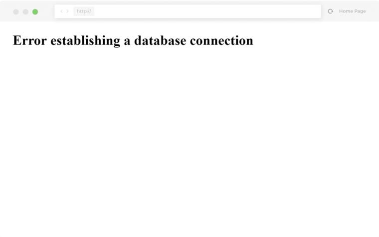 error establishing database a connection