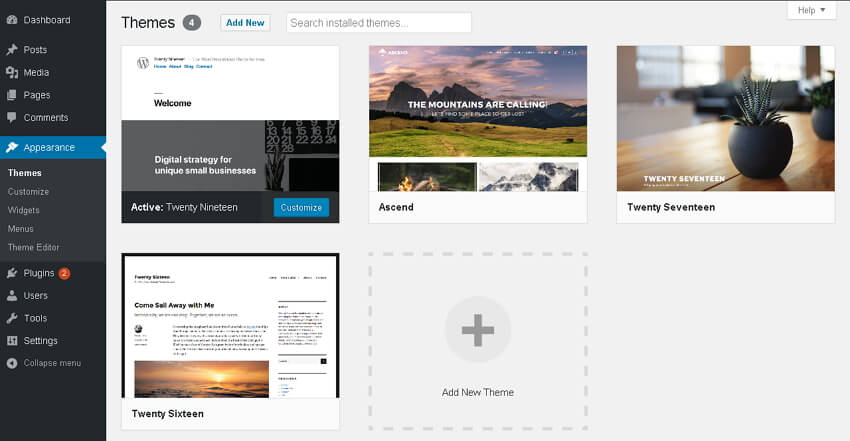 paparan themes wordpress