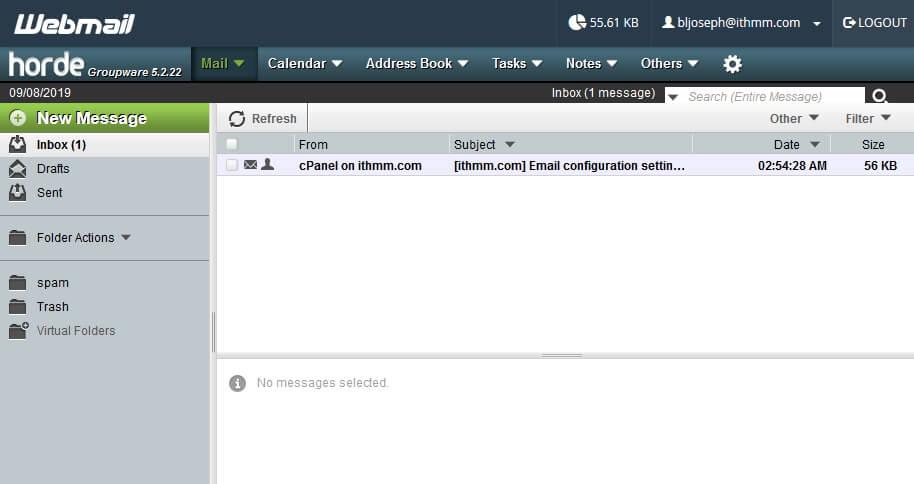 paparan webmail horde