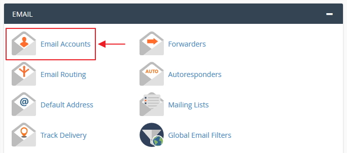 pilihan email account cpanel