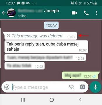 whatsapp berjaya padam tempat penerima