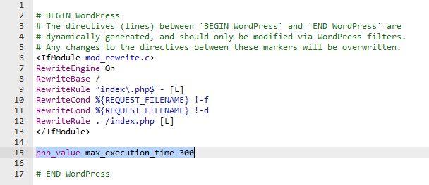 set maximum time pada htaccess fail