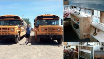 "Wanderfullodge,"" A Tiny Converted School Bus You can Buy for"