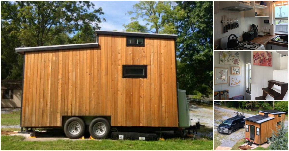 This Couple Live Off-Grid in their 210sf Solar-Powered Tiny House