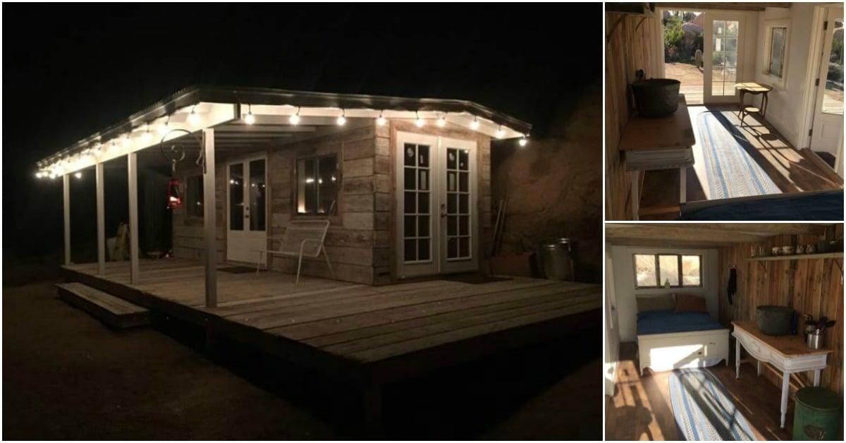 Arizona Couple Turns Dumpster into Tiny Vacation Home