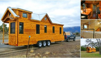 This Rustic Tiny Dream Cabin Fits on a 8x12 Single Axle
