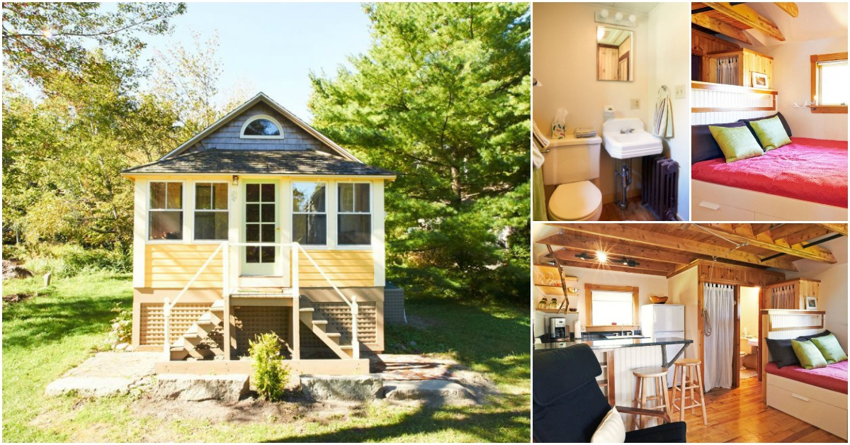 experience tiny living by renting this cozy tiny cottage in camden tiny houses