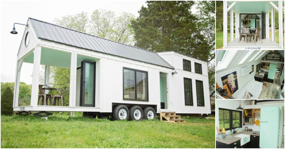 Perch & Nest Releases Newest Family Size Tiny Farmhouse on Wheels