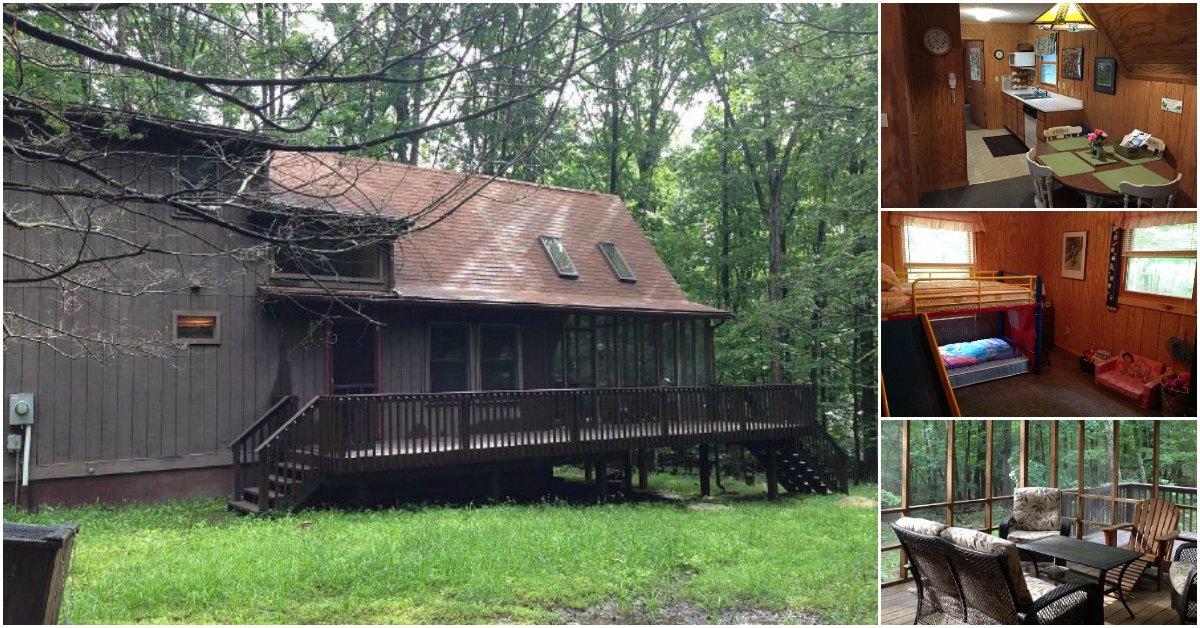 A-Frame Home Boasts Incredible Porch with a Cozy Interior