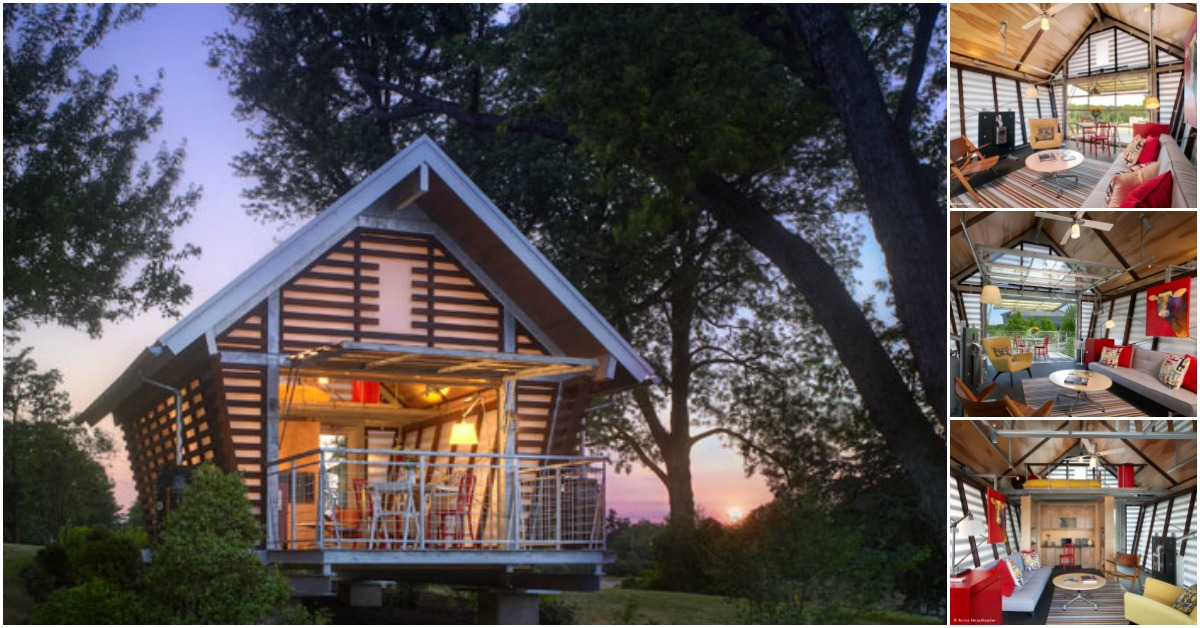 Tiny House Based on Traditional American Corn Cribs Gives Unique Twist on Tiny Living