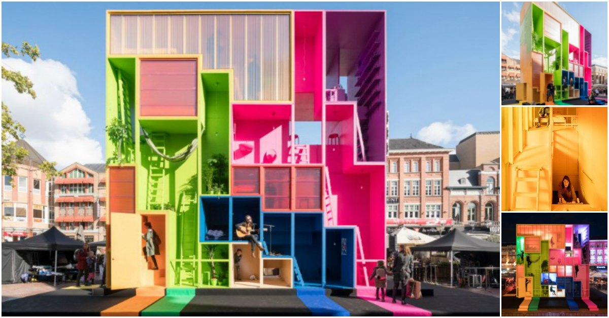 This Tiny Reconfigurable Apartment Is As Colorful As It Is Imaginative