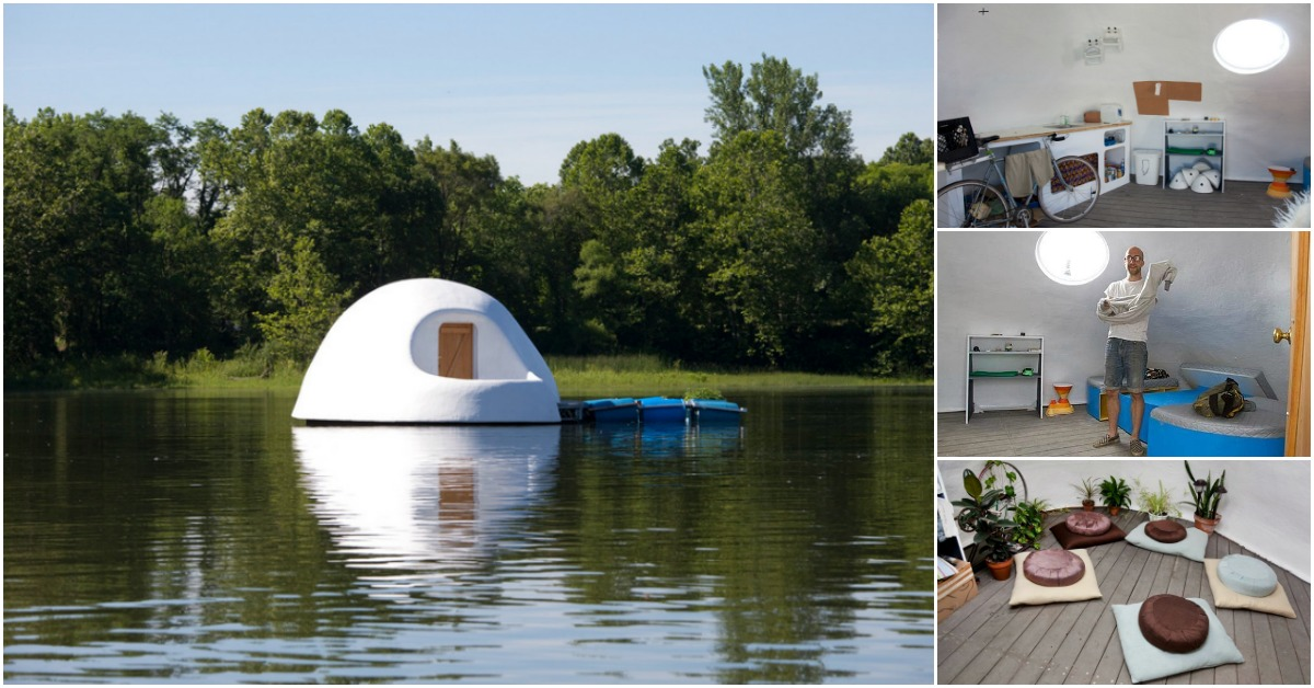 Indy Island Is An Unusual Floating Tiny House