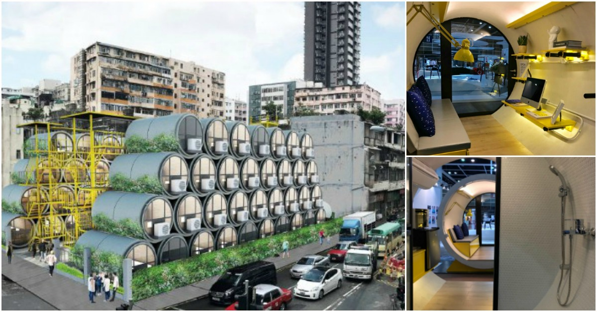 Imagine Living in a Fully Equipped Tiny Concrete Tube