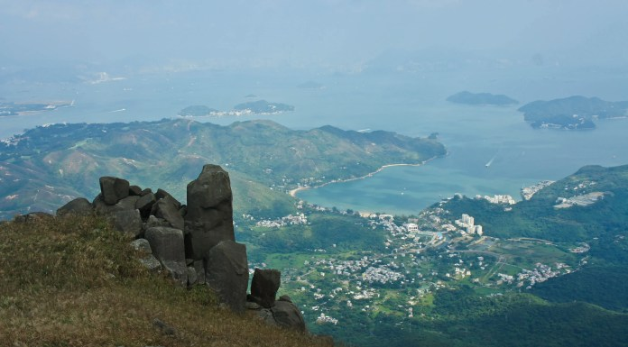 Silver Mine Bay seen from Lin Fa Shan | 蓮花山眺望梅窩銀鑛灣
