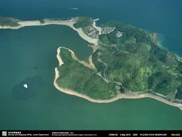 Bird View of Plover Cove Reservoir at HK| 香港船灣淡水湖鳥瞰圖