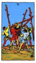 THE FIVES OF WANDS