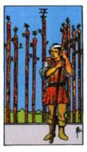 THE NINES OF WANDS