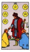 THE SIXS OF PENTACLES