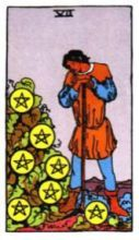 THE SEVENS OF PENTACLES